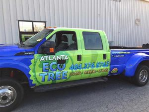 Atlanta Tree Service - Company vehicle with wrap.